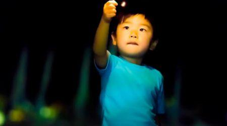 Young Asian boy holding a sparkler representing Ignite Faith Niagara